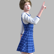 GaoDan Uniforms 11 for Genesis 3 Female(s) image 2