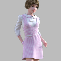 GaoDan Uniforms 11 for Genesis 3 Female(s) image 4