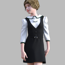 GaoDan Uniforms 11 for Genesis 3 Female(s) image 6