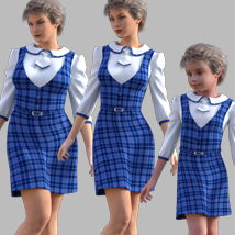 GaoDan Uniforms 11 for Genesis 3 Female(s) image 7