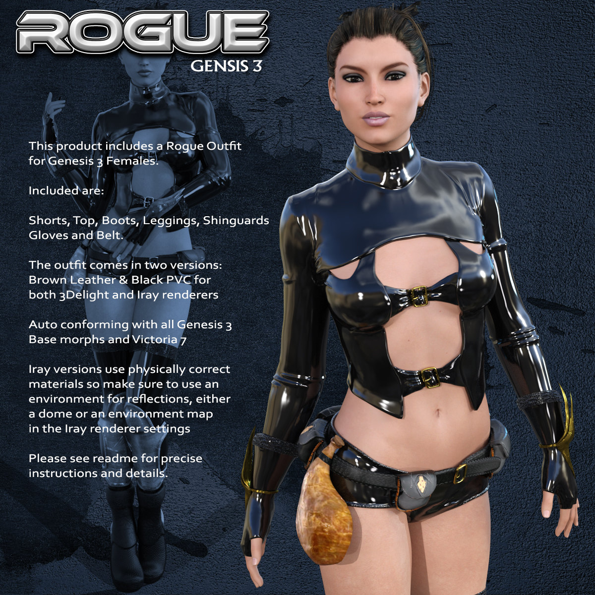 Exnem Rogue Outfit for G3 by exnem