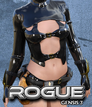 Exnem Rogue Outfit for G3 3D Figure Assets exnem