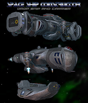 Space Ship Constructor Drop Ship 3D Models Simon-3D