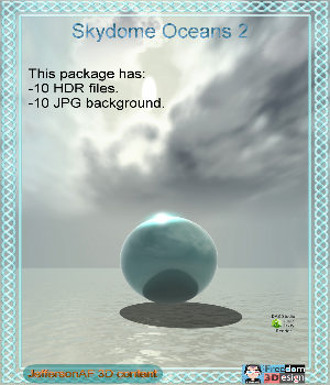 Skydome Oceans 2 2D Graphics 3D Models JeffersonAF