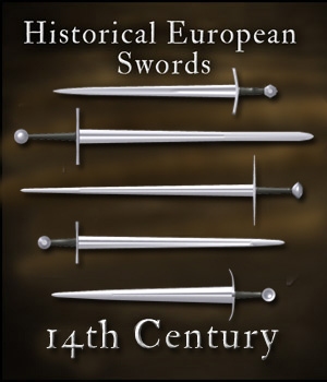 Historical European Swords: 14th Century - Extended License 3D Models Gaming Extended Licenses gmm2