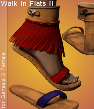 G3F Walk In Flats II 3D Figure Assets Karth