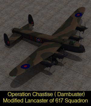 Operation Chastise Avro Lancaster 3D Models Touchwood