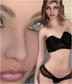 Lorna for Genesis 2 Female(s) 3D Figure Essentials Belladzines