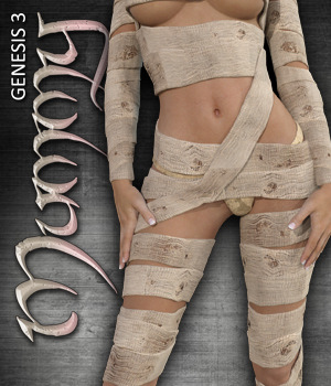 Exnem Mummy Outfit for G3 3D Figure Essentials exnem