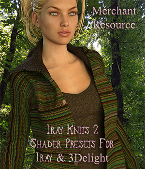 Iray Knit Shaders 2 - Merchant Resource For Iray and 3Delight 3D Figure Assets Merchant Resources fictionalbookshelf