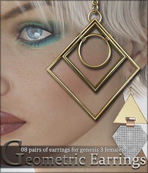 SV's Geometrics Earrings G3 3D Figure Assets Sveva