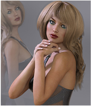 GDN Flirty Girl Poses for Victoria 7 3D Figure Assets Godin