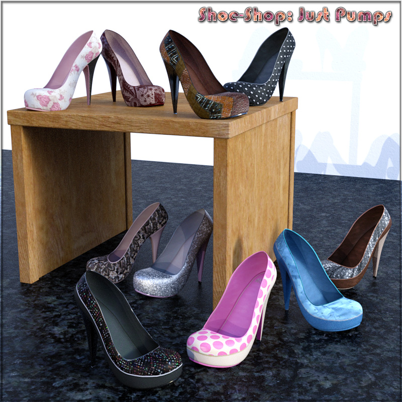 Shoe-Shop: Just Pumps DAZ Studio