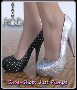 Shoe-Shop: Just Pumps DAZ Studio 3D Figure Assets ArtOfDreams