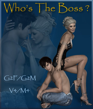 Who's The Boss ? - V4/M4 - G2F/G2M 3D Figure Assets ilona