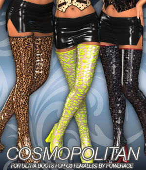 COSMOPOLITAN - Ultra Boots for G3 female(s) 3D Figure Assets Anagord