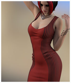 Sexy Flirt For 2 Tone Dress 3D Figure Assets Belladzines