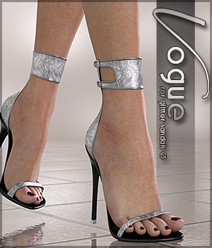Vogue for Glitter Sandals 3D Figure Assets Sveva