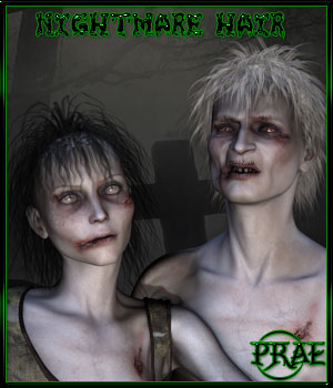 Prae-Nightmare Hair 3D Figure Essentials prae
