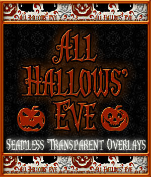 Design Resource: All Hallows' Eve Seamless Transparent Overlays 2D Merchant Resources fractalartist01