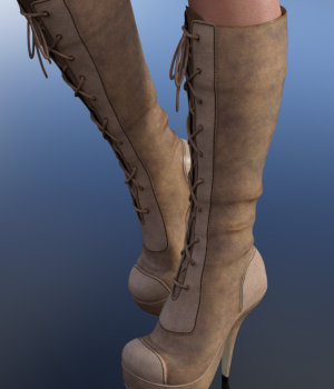 Lucia Boots for Genesis 3 Female 3D Figure Assets WildDesigns