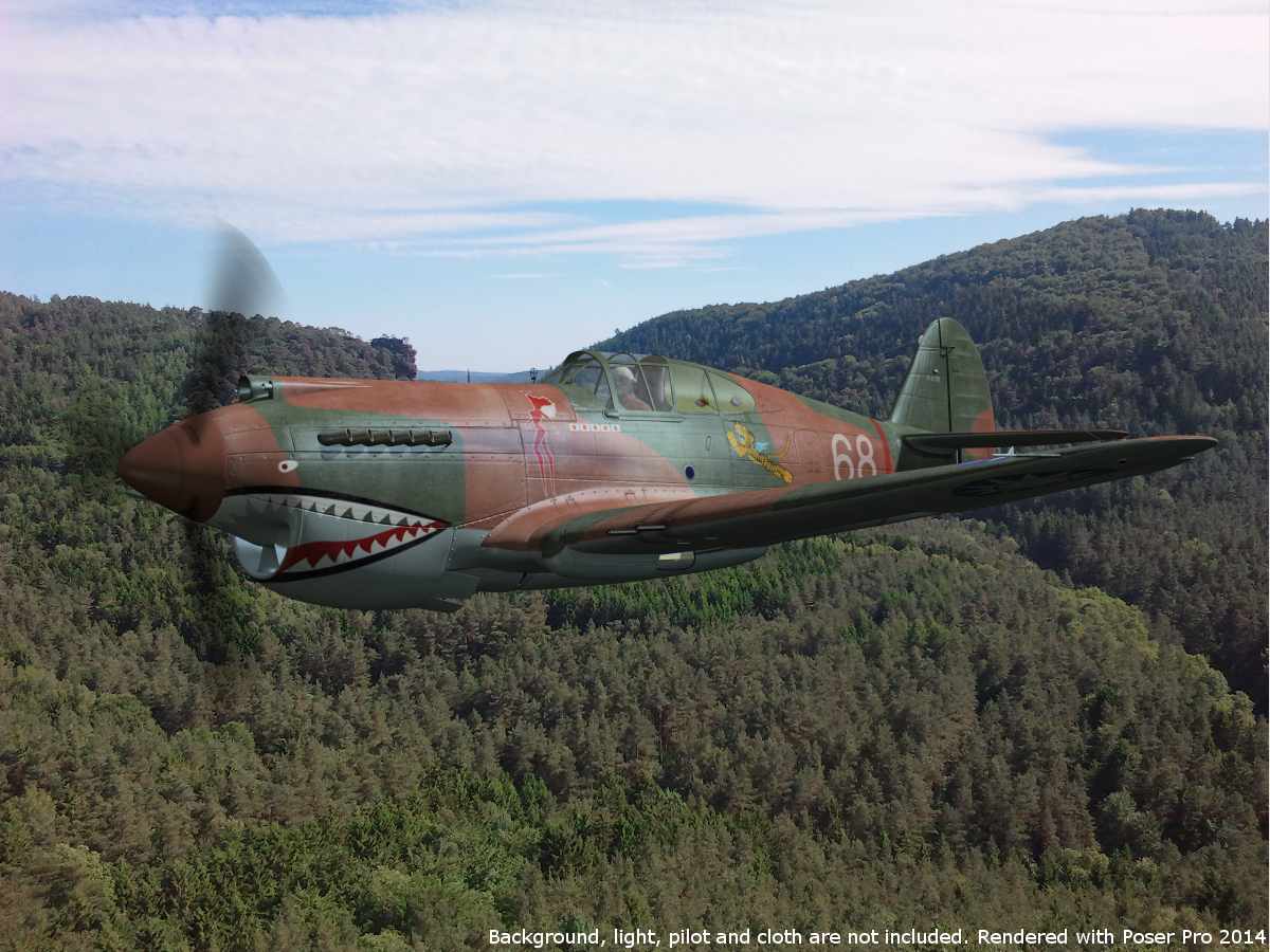 'Long-nosed' P-40 Tomahawk for Poser