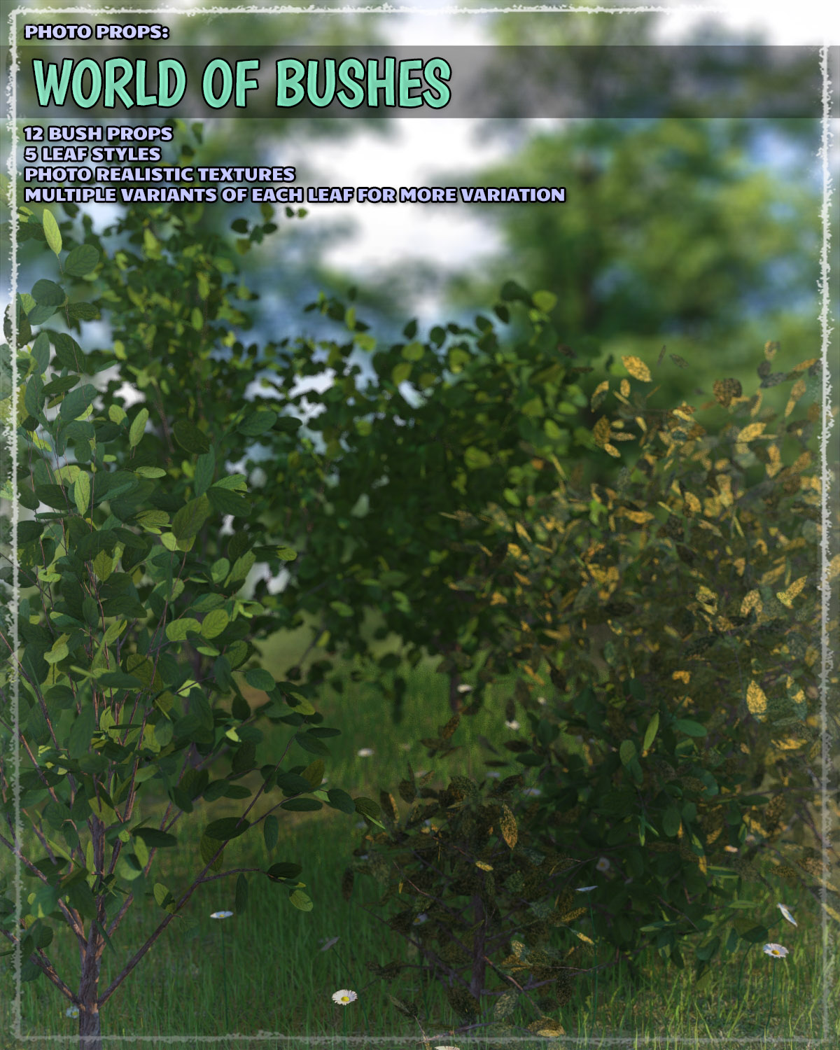 Photo Plants: World of Bushes by ShaaraMuse3D