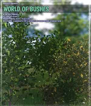 Photo Plants: World of Bushes 3D Models ShaaraMuse3D