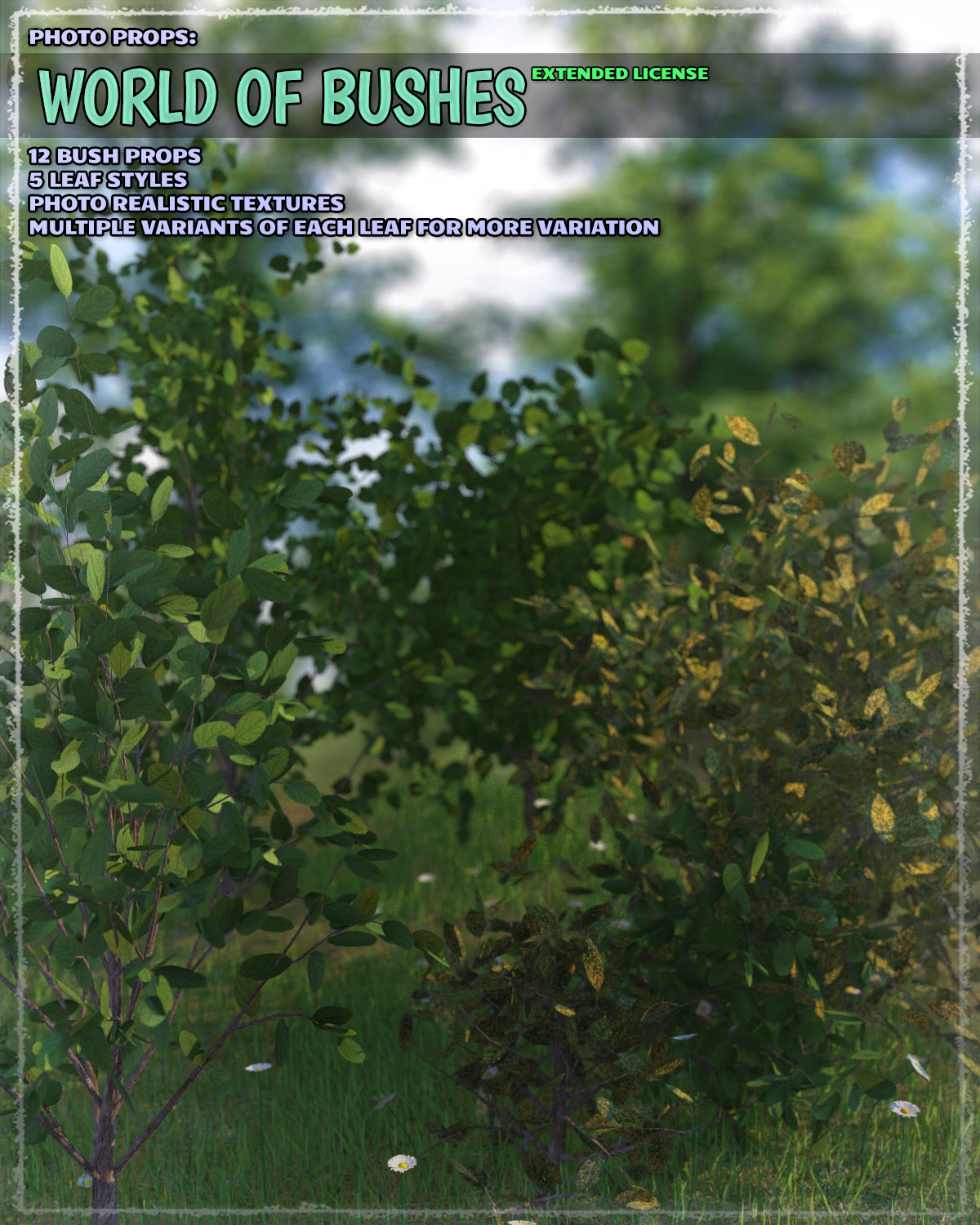 Photo Plants: World of Bushes - Extended License