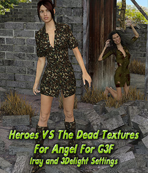 Heroes VS. The Dead Textures For Angel 3D Figure Assets fictionalbookshelf