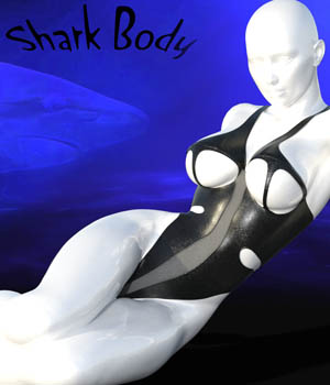 Shark body for genesis 2 by CDw 3D Figure Assets curtisdway