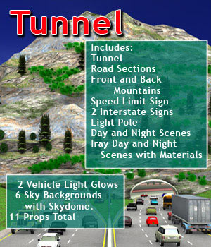 Freeway Tunnel Road Set  3D Models kashyyyk
