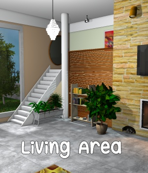 Living Area 3D Models greenpots