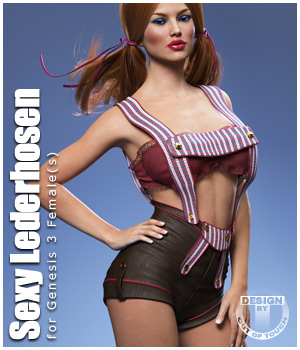 Sexy Lederhosen for Genesis 3 Female(s) 3D Figure Essentials outoftouch
