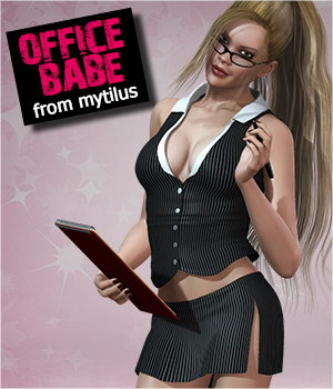 Office Babe 3D Figure Assets 3D Models mytilus