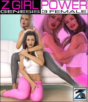Z Girl Power - Poses for G3F/V7 3D Figure Assets Zeddicuss