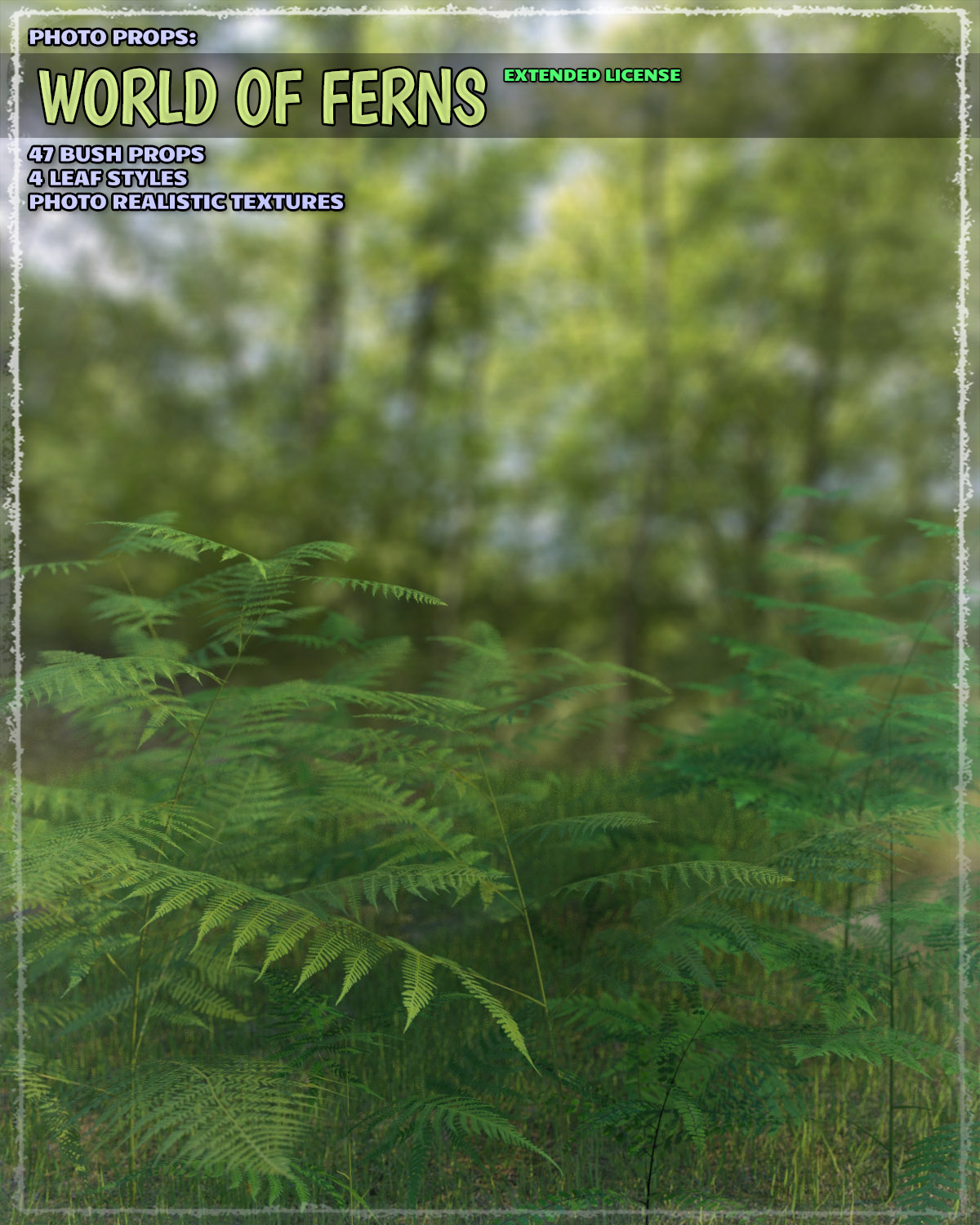 Photo Plants: World of Ferns - Extended License by ShaaraMuse3D