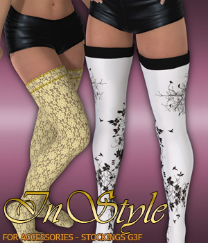 InStyle - Accessories - Stockings G3F 3D Figure Assets -Valkyrie-