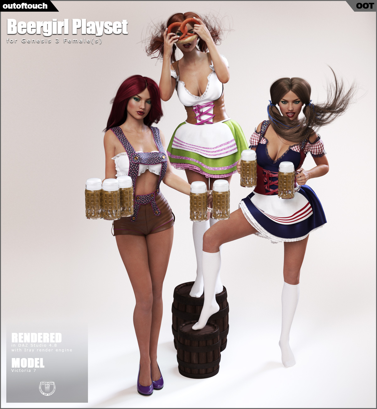 Beergirl Playset for Genesis 3 Female(s)