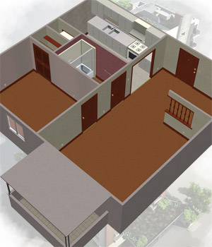 Efficiency Apartment 3D Models Richabri