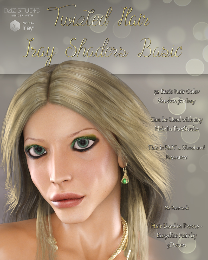 Twizted Hair Iray Shaders Basic by TwiztedMetal