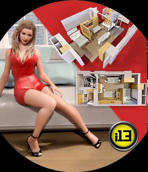 i13 Modern Times Apartment and Poses 3D Figure Assets 3D Models ironman13