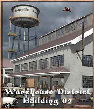 Warehouse District, Building 02 3D Models DreamlandModels