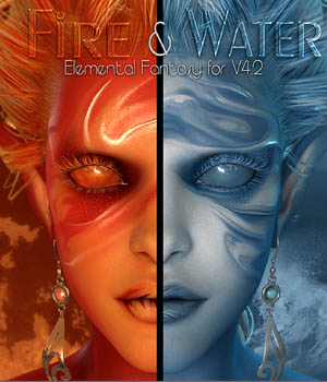 MDD Fire & Water for V4.2 3D Figure Essentials Maddelirium