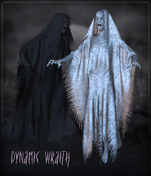 Dynamic Wraith 3D Figure Assets Frequency