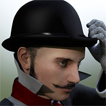 Jack The Ripper Hat, Hair & Mustache G2M image 2
