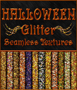 BLING! Glamour HALLOWEEN Glitter Texture Pack  2D 3D Models Merchant Resources fractalartist01