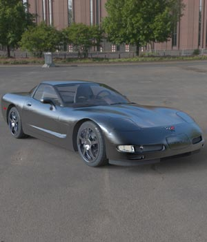 Chevrolet Corvette 2003 (for Poser) 3D Models Digimation_ModelBank