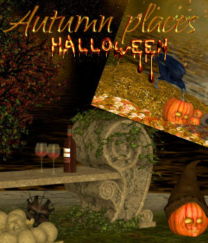 DA-Autumn places -Halloween 2D Graphics DarkAngelGrafics