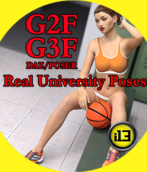 i13 Real University Poses for G3F/G2F 3D Figure Assets ironman13